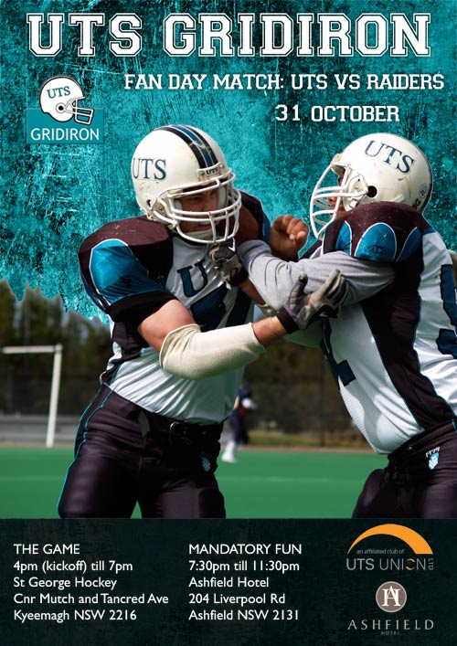 uts-gridiron-fan-day-2009-poster